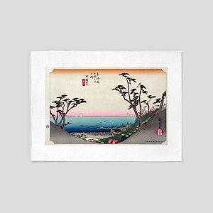 Shirasuka - Hiroshige Ando - 1833 5'x7'Area Ru