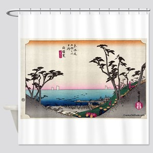 Shirasuka - Hiroshige Ando - 1833 Shower Curta