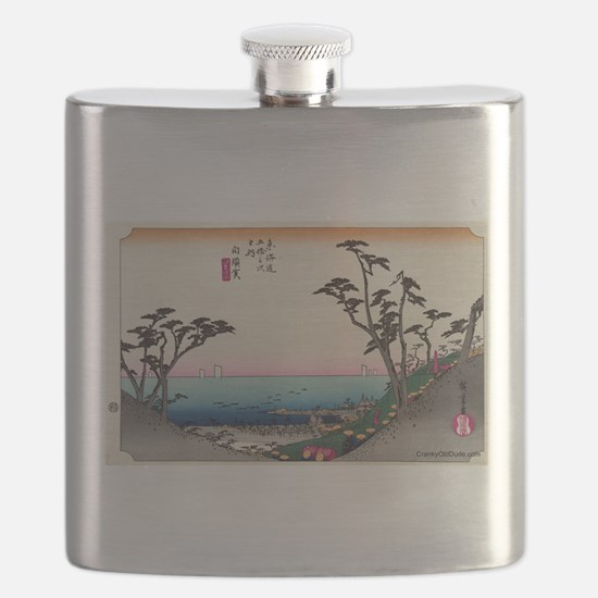 Shirasuka - Hiroshige Ando - 1833.tif Flask