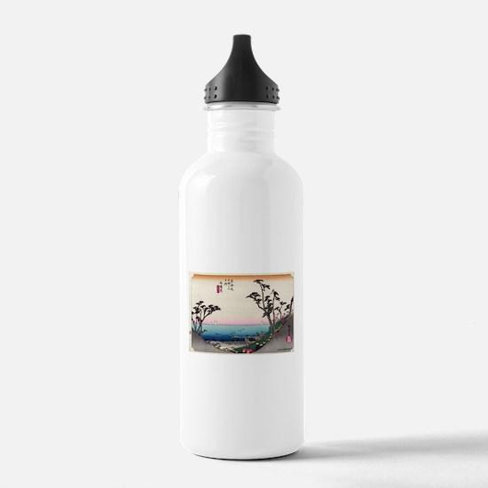Shirasuka - Hiroshige Ando - 1833.tif Water Bottle