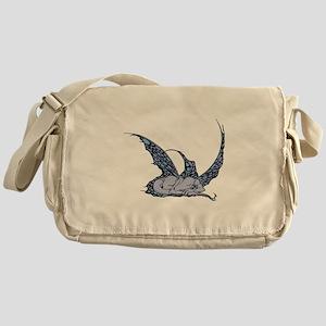 Sleeping Blue Dragonette Messenger Bag