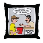 Trading Post Bucket Throw Pillow