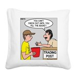Trading Post Bucket Square Canvas Pillow