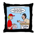 Trading Post Water Throw Pillow