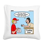 Trading Post Water Square Canvas Pillow