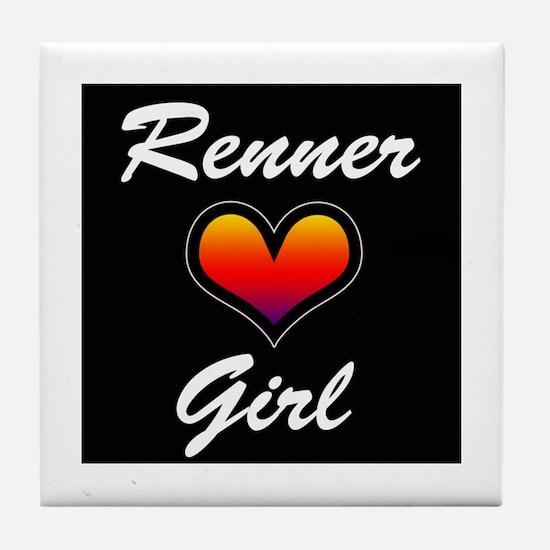 Jeremy Renner Girl! Tile Coaster