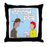 Pet Tick Throw Pillow