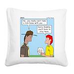 Pet Tick Square Canvas Pillow