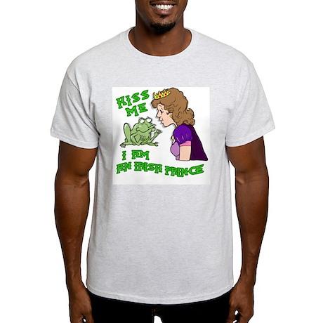 Kiss Me, I'm an Irish Prince Ash Grey T-Shirt