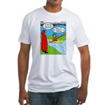 Campsite Canoeing Fitted T-Shirt