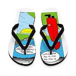 Campsite Canoeing Flip Flops