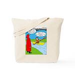 Campsite Canoeing Tote Bag