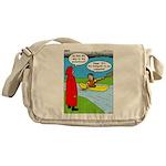 Campsite Canoeing Messenger Bag