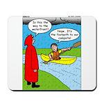 Campsite Canoeing Mousepad