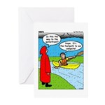 Campsite Canoeing Greeting Cards (Pk of 20)
