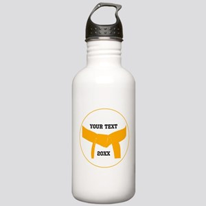 Custom Martial Arts Orange Belt Water Bottle