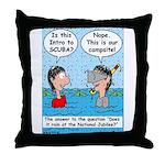 Campsite SCUBA Throw Pillow