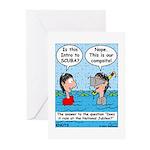 Campsite SCUBA Greeting Cards (Pk of 10)