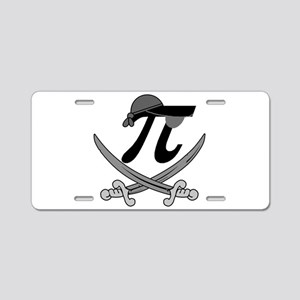 Pi - Rate Greyscale Aluminum License Plate
