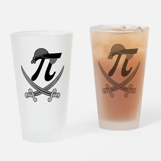 Pi - Rate Greyscale Drinking Glass
