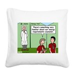 Atomic Energy Square Canvas Pillow