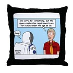 Space Exploration Throw Pillow