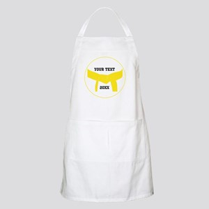 Custom Martial Arts Yellow Belt Apron