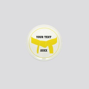 Custom Martial Arts Yellow Belt Mini Button