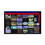 Game Screens 35x21 Wall Decal