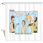 Horsemanship Shower Curtain