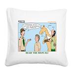 Horsemanship Square Canvas Pillow