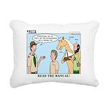 Horsemanship Rectangular Canvas Pillow