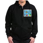 Hooked on Scouts Zip Hoodie (dark)