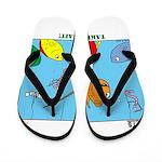 Hooked on Scouts Flip Flops