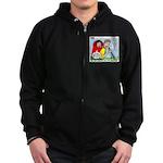 Backpacking Surprise Zip Hoodie (dark)