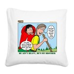 Backpacking Surprise Square Canvas Pillow