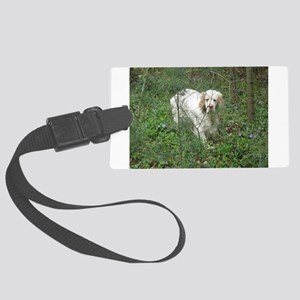 Clumber Spaniel Large Luggage Tag