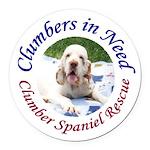 Clumber Spaniel Round Car Magnet