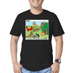 Woodland Critters Men's Fitted T-Shirt (dark)