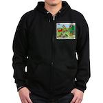 Woodland Critters Zip Hoodie (dark)