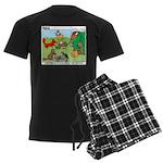 Woodland Critters Men's Dark Pajamas