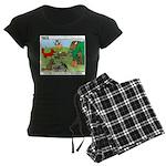 Woodland Critters Women's Dark Pajamas