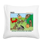 Woodland Critters Square Canvas Pillow