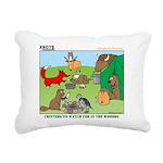 Woodland Critters Rectangular Canvas Pillow