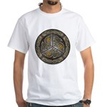 Bejeweled Celtic Shield White T-Shirt