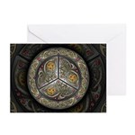 Bejeweled Celtic Shield Greeting Cards (Pk of 10)