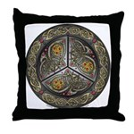 Bejeweled Celtic Shield Throw Pillow