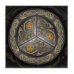 Bejeweled Celtic Shield Tile Coaster