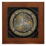 Bejeweled Celtic Shield Framed Tile