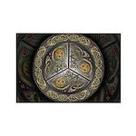 Bejeweled Celtic Shield Rectangle Magnet